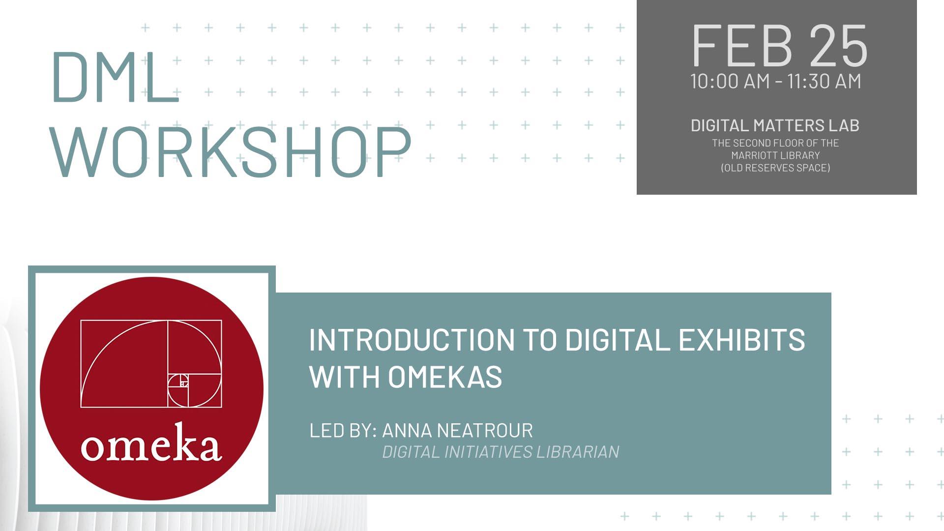 Digital Matters Workshop – Introduction to Digital Exhibits